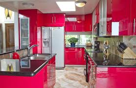 Black Corian Countertop 27 Red Kitchen Ideas Cabinets U0026 Decor Pictures Designing Idea