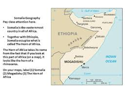 Africa On A Map by The Somali Civil War Ppt Download