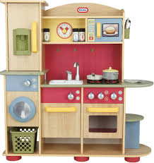 new little tikes cooking creations premium wooden kitchen playset