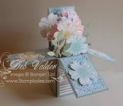 new z fold card in a box with deb valder 1 stampladee com