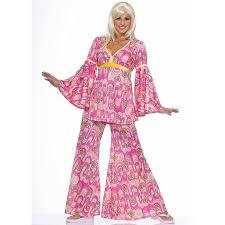 Hippie Halloween Costumes Adults Flower Power Hippie Women U0027s Halloween Costume 1 Size