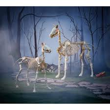 horse skeleton halloween home accents holiday 74 in halloween standing skeleton horse 6342