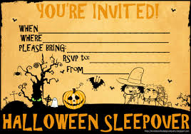 Free Printable Halloween Party Invitations Templates by Invitations For Sleepover Party