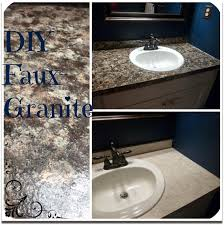 kestutis mini bathroom makeover part iii faux granite countertops