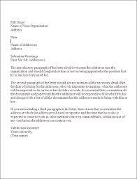 job appointment letter job joining letter letter of job