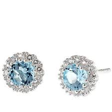 blue topaz stud earrings sevilla silver sky blue topaz stud earrings 8580582 hsn