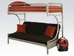 black metal twin full futon bunk bed frame the furniture mart