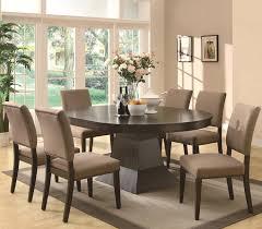 Espresso Pedestal Dining Table Myrtle Espresso Pedestal Dining Table For 549 94 Furnitureusa