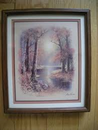 home interiors deer picture vintage large 1978 the silent buck deer framed picture home