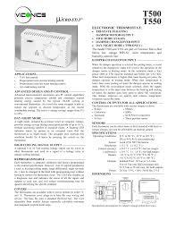 viconics t550 user manual 2 pages