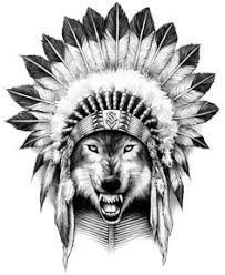 Wolf Indian Tattoos - wolf