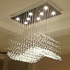 Wire Light Fixtures Z Modern Wave Shaped Clear K9 Ls Luxury Restaurant