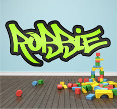 Personalized Name Wall Decals For Nursery by Personalised Graffiti Name Wall Sticker Kids Transfer Huge Bedroom