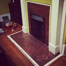 Bathroom Floor Pennies Penny Floor Gallery Pretty Purple Door