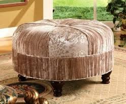 round upholstered ottomans foter