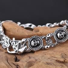 skull link bracelet images Trustylan 22cm heavy chain link stainless steel skull bracelet jpg