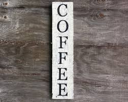 wooden coffee wall coffee wall hanging etsy