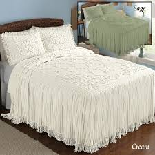 cottage charm floral lattice chenille bedspread chenille