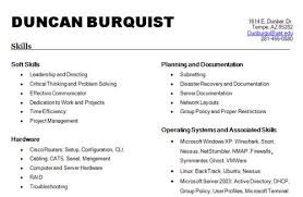 Vmware Resume List Of Skills For Resume Best Template Collection List Of Hard