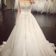 custom wedding dress a line lace crystal a line wedding dresses 2017 luxurious long