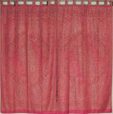 Burgundy Curtains For Living Room Living Room Curtains Burgundy Paisley Ethnic Style Woven Panels