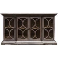 4 Door Cabinet Cortland Modern Classic Silver Wood Glass 4 Door Cabinet Kathy