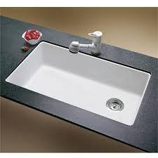 Creative Of White Undermount Kitchen Sink Single Bowl Houzer - Porcelain undermount kitchen sink