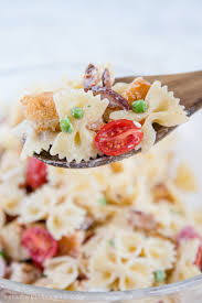 bacon ranch chicken pasta salad light and fresh meal