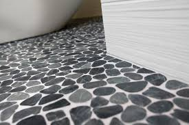 grandiose charcoal pebble shower floor with random sized as well
