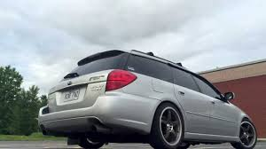 white subaru wagon 2005 subaru legacy gt wagon exhaust sound clip raspy throaty deep