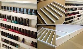 make your own nail polish rack gorilla glue