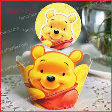 winnie the pooh cake topper winnie the pooh cupcake wrappers cake decoration for birthday