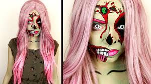 Zombie Barbie Halloween Costume Comic Pop Art Zombie U2022 Makeup Tutorial Spooktober Youtube