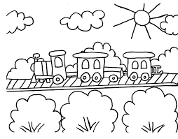 train coloring pages toddlers coloring