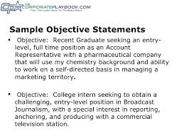 Example Of A Marketing Resume Samples Of Objective Statements For Resumes Sample Objective