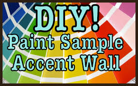 diy paint sample accent wall home decor roomspiration youtube