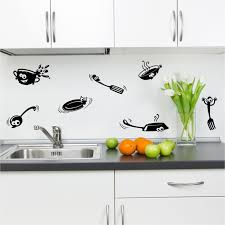 wondrous kitchen with wall quotes decals combined wooden