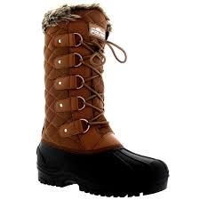 womens walking boots uk womens faux fur tactical mountain waterproof knee high walking