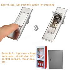 sony home theater system push power protector silver tone metal electric cabinet push button security plane lock
