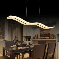 Modern Kitchen Table Lighting 40w 56w Led Pendant Lights Modern Kitchen Acrylic Suspension