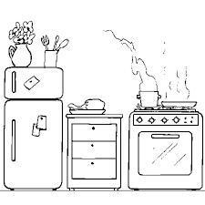 coloriage cuisine la cuisine en ligne gratuit à imprimer