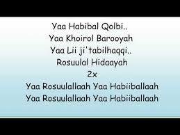 Ya Habibal Qolbi Lirik Lagu Ya Habibal Qolbi Sang Kekasih Pujaan Hati Voc Yan