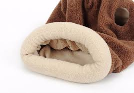 Self Warming Pet Bed Pet Cat Self Warming Soft Sleeping Bag Kitten Cozy Cave Snuggle