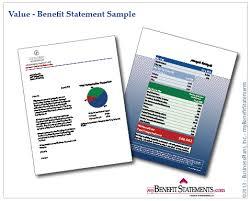 standard employee benefit statements employee benefit statements