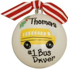 awesome bus driver christmas ball ornament www babyshowerstore