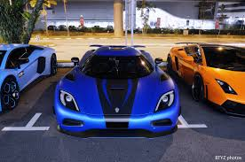 koenigsegg car blue photo of the day the 5 3 million koenigsegg agera s in singapore
