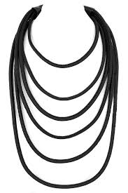 multi layered black necklace images Faux leather multi layered necklace necklaces jpg
