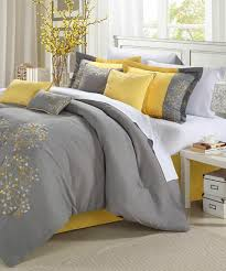 yellow floral embroidered comforter set comforter
