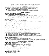 Pharmacy Resume Examples by Pharmacist Resume Templates