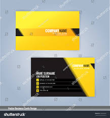 yellow black modern business card template stock vector 558844699